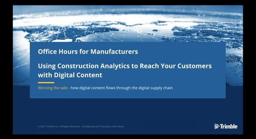 [On-Demand] Session 4: Using Construction Analytics: How Digital Content Flows Through the Digital Supply Chain