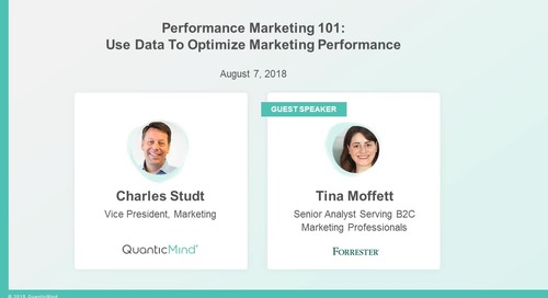 [Webinar] Performance Marketing 101: How to Use Data to Optimize Marketing Performance with Forrester