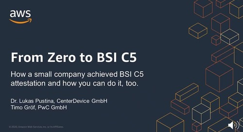 From Zero to BSI C5: How a small company achieved BSI C5 attestation and how you can do it, too.