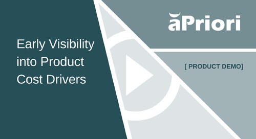 Get Early Visibility into Product Cost Drivers