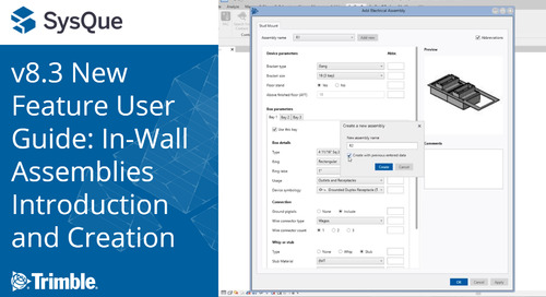 SysQue v8.3 New Feature User Guide: In-Wall Assemblies - Introduction and Creation