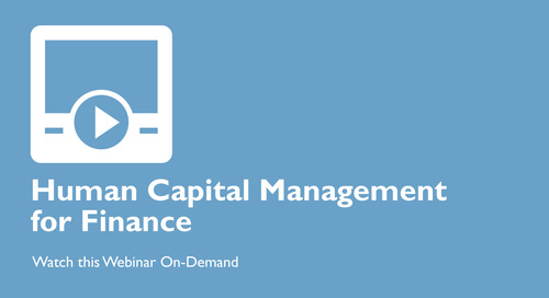 Human Capital Management for Finance