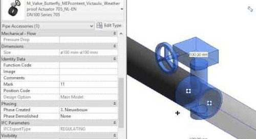 Victaulic valves built-in grooved coupling [Free Revit Family]