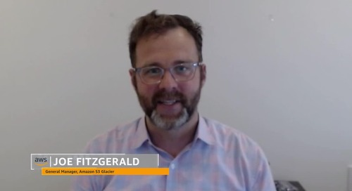 theCUBE Interview with Joe Fitzgerald, Amazon S3 Glacier General Manager