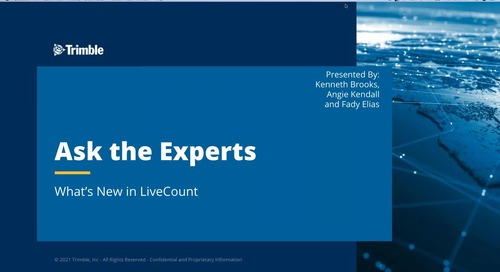 Ask the Expert - What's New In LiveCount