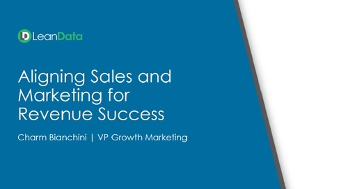 Aligning Sales and Marketing for Revenue Success