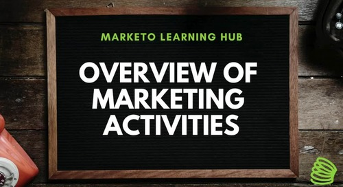 Overview of Marketing Activities