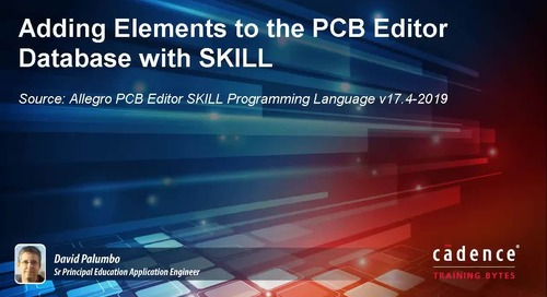 Adding Elements to the PCB Editor Database with SKILL
