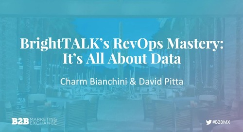 BrightTALK's RevOps Mastery: It's All About The Data