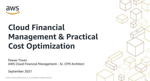 AWS ISV Embark Webinar Series - Optimizing Expenses on AWS with Cloud Financial Management
