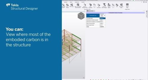 Reducing embodied carbon with Tekla