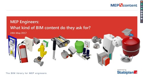 Webinar 'What BIM content do MEP engineers ask for?'