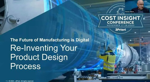 Re-Inventing the Product Design Process (CIG/DFM/DTC)   Cost Insight Conference 2020