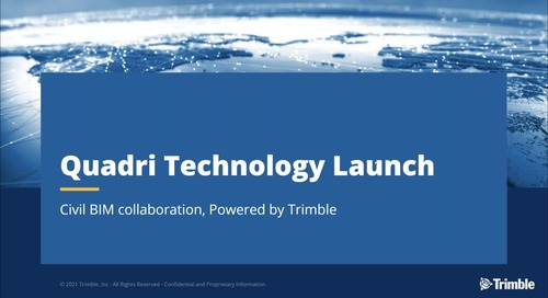 Trimble Quadri NA Launch Civil BIM Collaboration Software