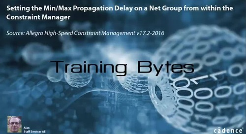 Setting the Min/Max Propagation Delay on a Net Group from within the Constraint Manager