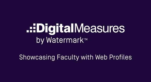 Showcasing Faculty with Web Profiles