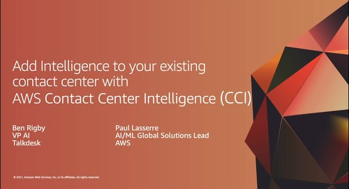 Add Intelligence to your existing contact center with AWS Contact Center Intelligence (CCI)