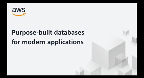 Purpose Built Databases on AWS