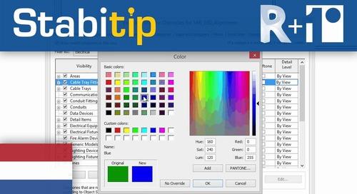 Kleur systems, kabelgoten en wandcontactdozen aanpassen [Revit + Stabicad]