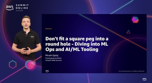 Don't fit a square peg into a round hole - Diving into ML Ops and AI/ML Tooling [L300]