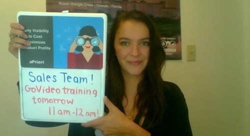 See you at tomorrows GoVideo training?!