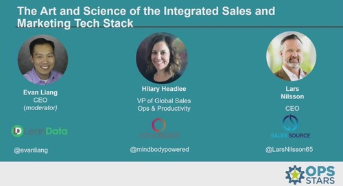 The Art and Science of the Integrated Sales and Marketing Tech Stack