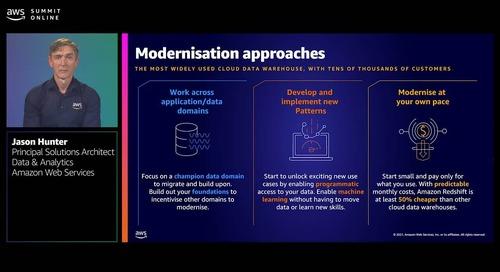 Modernising your legacy data warehouse on AWS