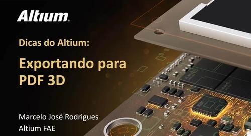 Interactive PDF 3D Export From Altium Designer