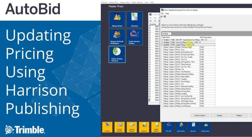 Updating Pricing Using Harrison Publishing in AutoBid