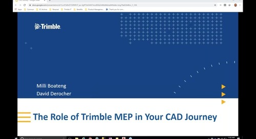 [Webinar Recording] The Role of Trimble in Your CAD Journey