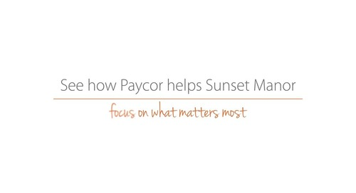Sunset Manor Testimonial - Reporting