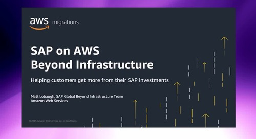Going Beyond Infrastructure for SAP on AWS [Level 200]