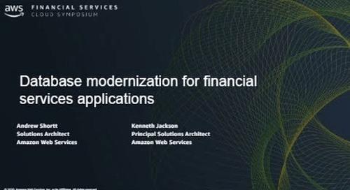 Database Modernization for Financial Services