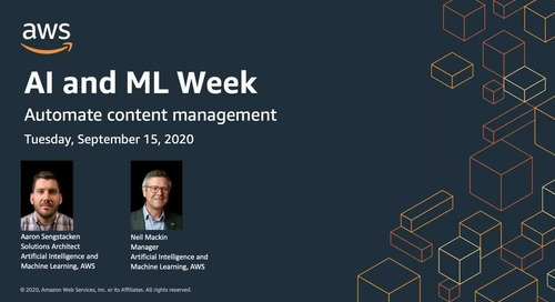 AIML Week: Automate document management and improve search discovery and insights with AI
