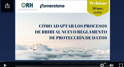 Webinar: Cómo adaptar los procesos de RRHH al nuevo reglamento de protección de datos