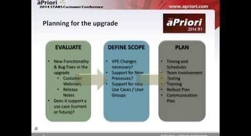 Best Practices for Managing an aPriori Upgrade