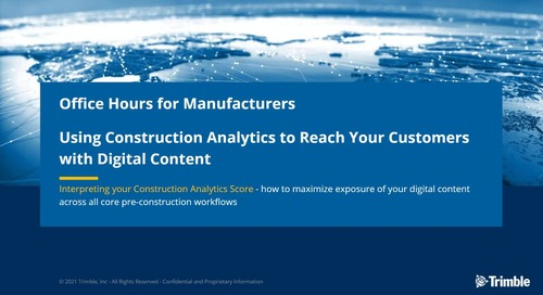 [On-Demand] Session 5: Using Construction Analytics to Reach Estimators with Digital Content