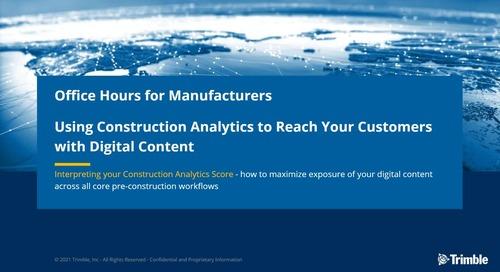 [On-Demand] Session 5: Using Construction Analytics: Interpreting Your Construction Analytics Score