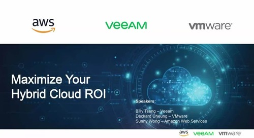 Build Production-grade Hybrid Cloud Operations with AWS, Veeam and VMware