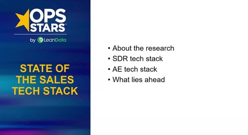 State of the Sales Tech Stack