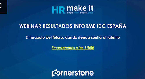 Webinar: resultados informe IDC España