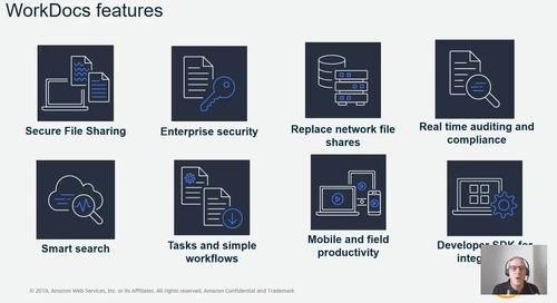 Amazon Workdocs: compartilhamento de arquivos e serviços de colaboração na nuvem.