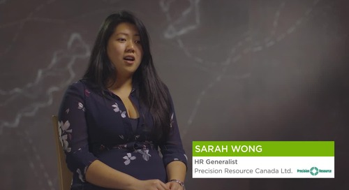Sarah Wong from Precision Resource