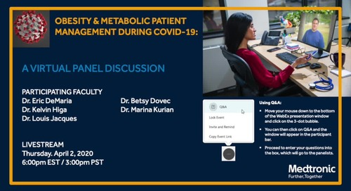 Obesity & Metabolic Patient Management During COVID-19