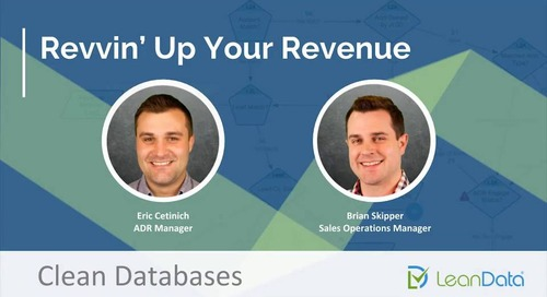 Revvin' Up Your Revenue - Clean Databases
