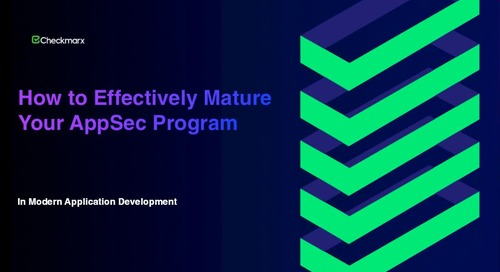 Webinar: How to Effectively Mature Your Appsec Program