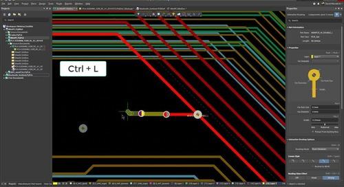 Lagenwechsel beim Routing in Altium Designer 19