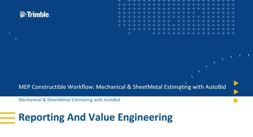 [Constructible Workflow] 4. AutoBid Reporting and Value Engineering