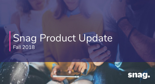 Fall 2018 Product Update