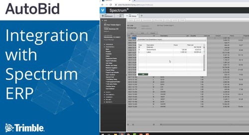 AutoBid Integration with Spectrum ERP